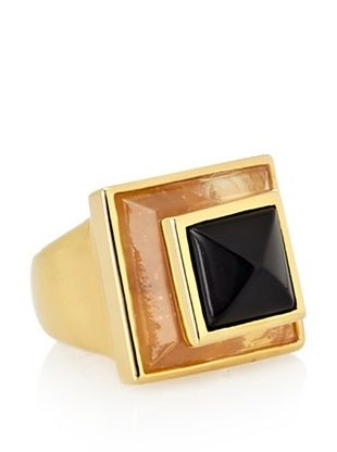 44% OFF Vince Camuto Two-Stone Pyramid Gold Adjustable Ring