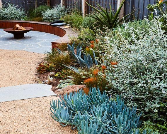 Sunken Coastal Garden | Sloped garden, Australian garden ... on Coastal Backyard Ideas id=51905