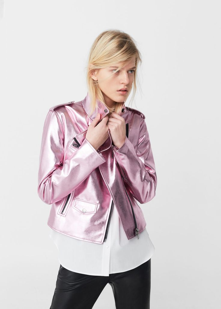 Crystals metallic jacket | MANGO