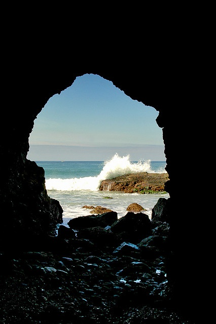 rock collecting in the Dana Point cave.......molly u need to go take pics here!