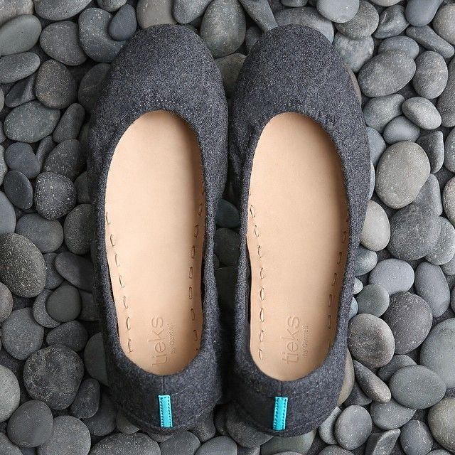 Timeless wool texture meets classic ballet flat. Greystone, our latest Vegan style, has arrived!