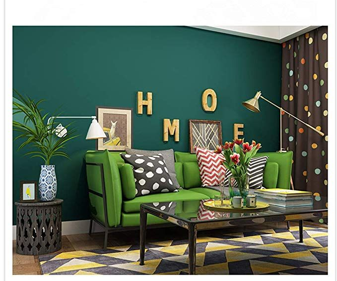 Blooming Wall Removable Super Thick Peel And Stick Paint Non Woven Textured Wallpaper S Green Living Room Wallpaper Wallpaper Walls Decor Wallpaper Living Room