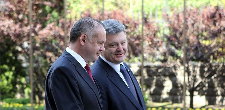 Slovak President Andrej Kiska, left, has come out firmly in support of EU enlargement to include Ukraine. Photo: Prezident.sk.