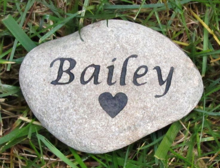 PERSONALIZED Pet Headstone Dog Cat Hamster Guinea Pig Gerbil Memorial Stone with Heart #cat_memorials #dog_memorial #garden_memorial