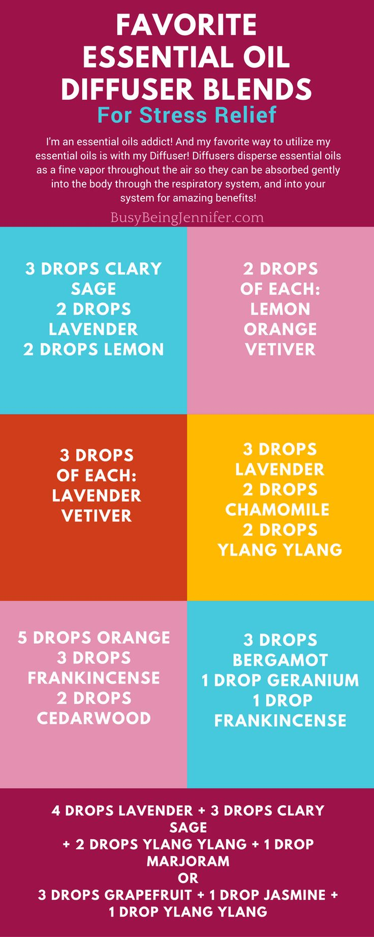 Favorite Essential Oils for Stress Relief Blends for the Diffuser!