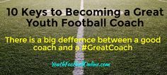 There are thousands of good #youthfootball coaches across the country. There's no doubt about it. However, there is a big difference between good coaches and GREAT football coaches. Here is an excellent article breaking down the 10 keys to becoming a great youth football coach. This is a must read... #PopWarner #AYF #FootballMom #parents