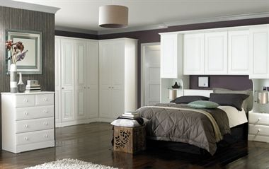 Nicole - The Nicole range of bedroom furniture is crisp and clean, with smooth contoured edges.  With a Crisp White Painted finish.
