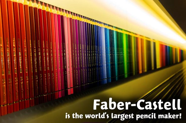 Faber-Castell is the world's largest pensil marker