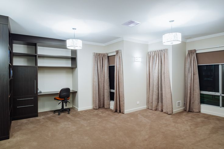 Spare room with built in desk