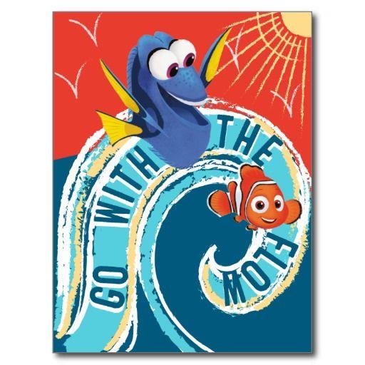 Dory & Nemo | Go with the Flow #tarjeta #postal #postcard