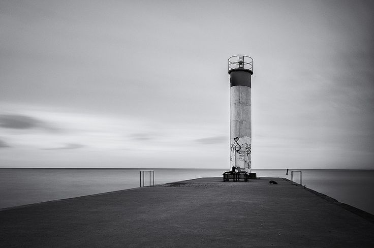 This little light of mine... This was my first venture out to the port of Whitby and found this small lighthouse at the end of a long pier. The lake was very choppy due to the gusting winds. Early morning and overcast skies... made for a decent long exposure. Will have to visit again.