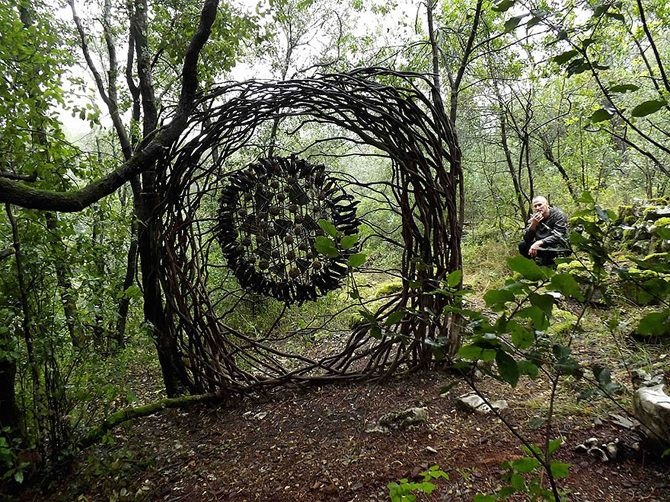 Best Environments And Scenery Images On Pinterest Land Art - Artist spends year woods creating beautiful sculptures