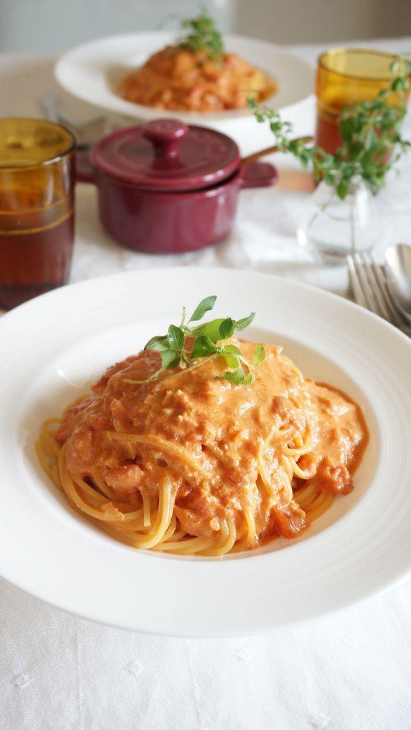 蟹缶で作る、蟹のトマトクリームパスタ by 本村 美子 / レシピサイト「ナディア / Nadia」/プロの料理を無料で検索