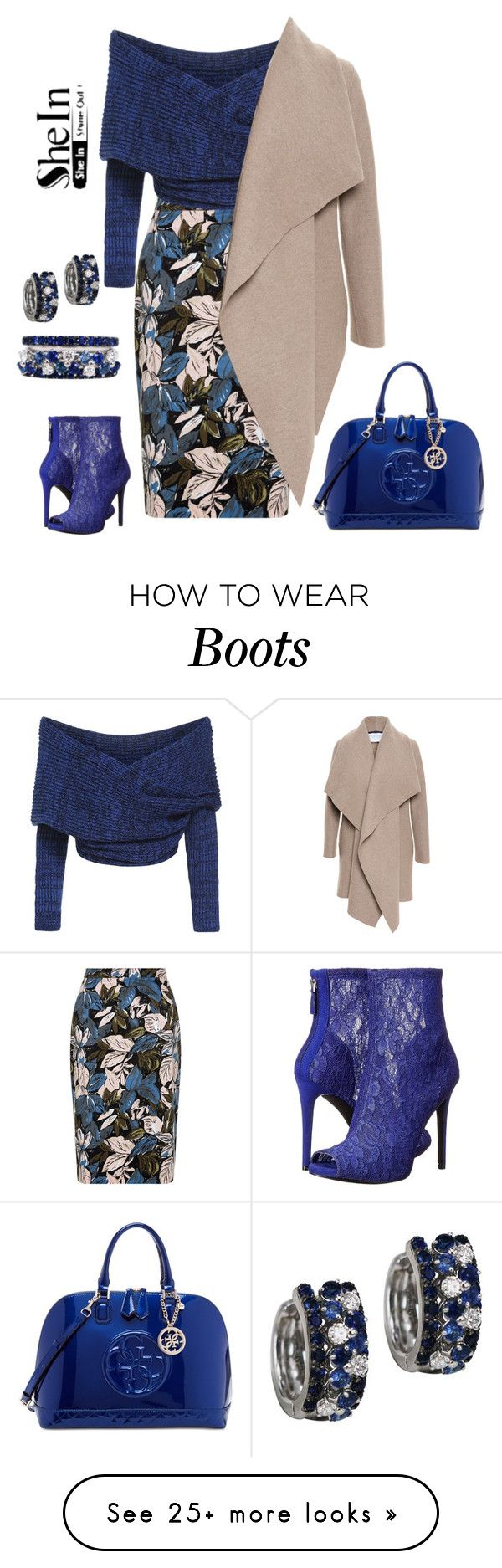 """""""I love blue"""" by longopaola on Polyvore featuring GUESS and Harris Wharf London"""
