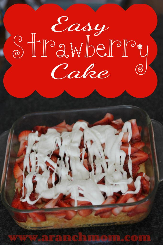 Super easy and YUMMY Strawberry cake! For your Easter dinner