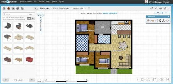 FloorPlanner aplicación hacer planos gratis