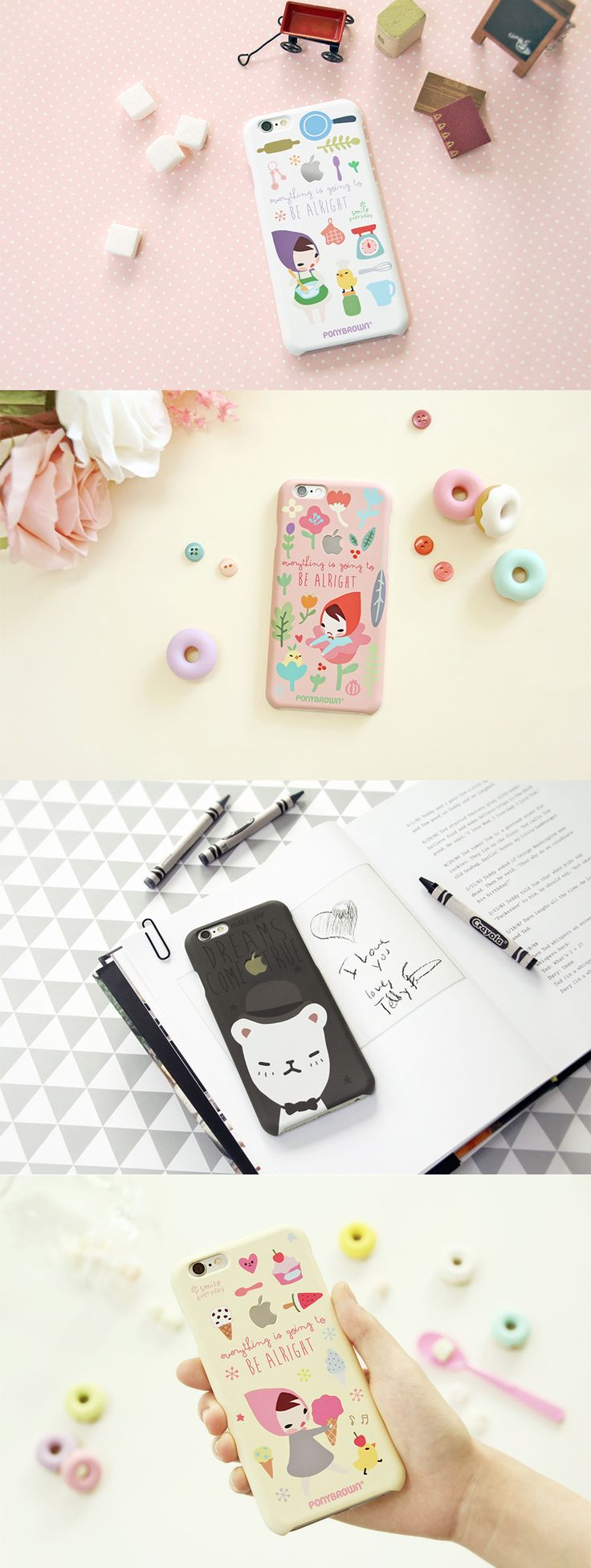 This is a cute and functional iPhone case for iPhone 6 and 6plus. The awesome thing is that it provides you with lovely background images matching the case designs. Isn't it wonderful?