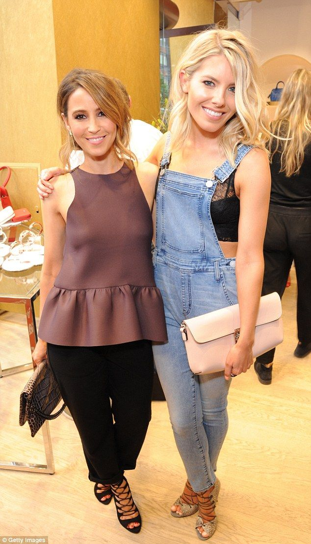 Strike a pose! Rachel and Mollie King, both in Folli Follie jewellery, cosy-up for a photo...
