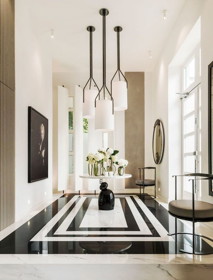 Contemporary Entry and Hall in GB by Kelly Hoppen Interiors