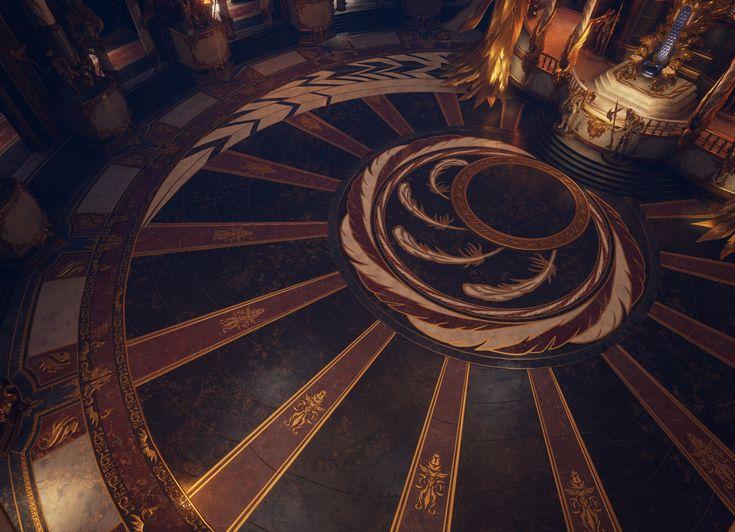 throne room fantasy winged castle desmera polycount king ballroom landscape idea contest kings rpg interior game