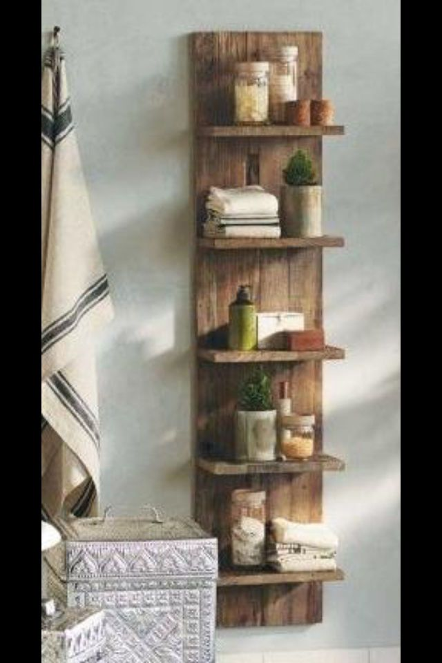 top 25 ideas about wooden bathroom shelves on pinterest shelves above toilet toilet room and. Black Bedroom Furniture Sets. Home Design Ideas
