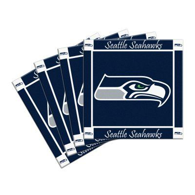 nfl seahawks ceramic coasters 4 seattle seahawks beverage coasters set of 4