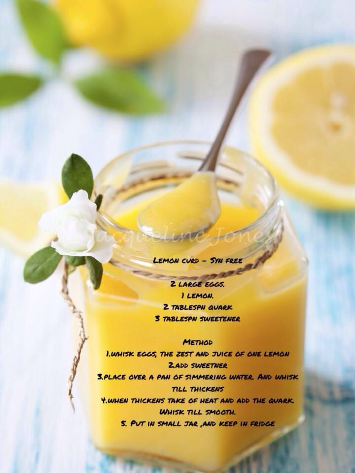 syn free lemon curd slimming world #slimming #world
