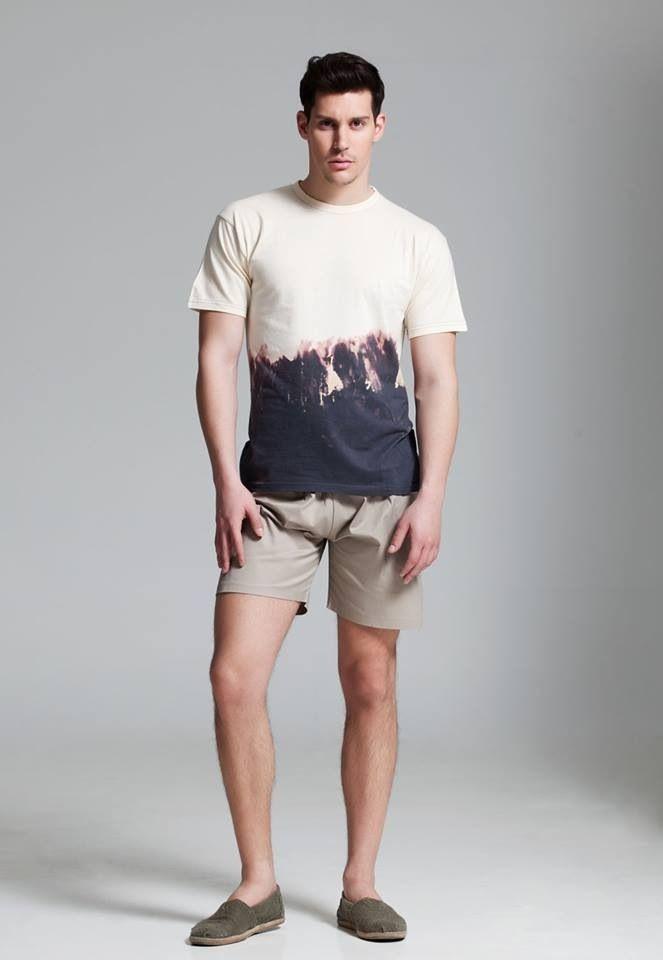 T-Shirt & Shorts by Vassilis Thom! Photographer: Christos Theologou  Hair Stylist: Vassilis Stratigos  MUA: Christina Agkatha  Model: Manos Vrontzakis