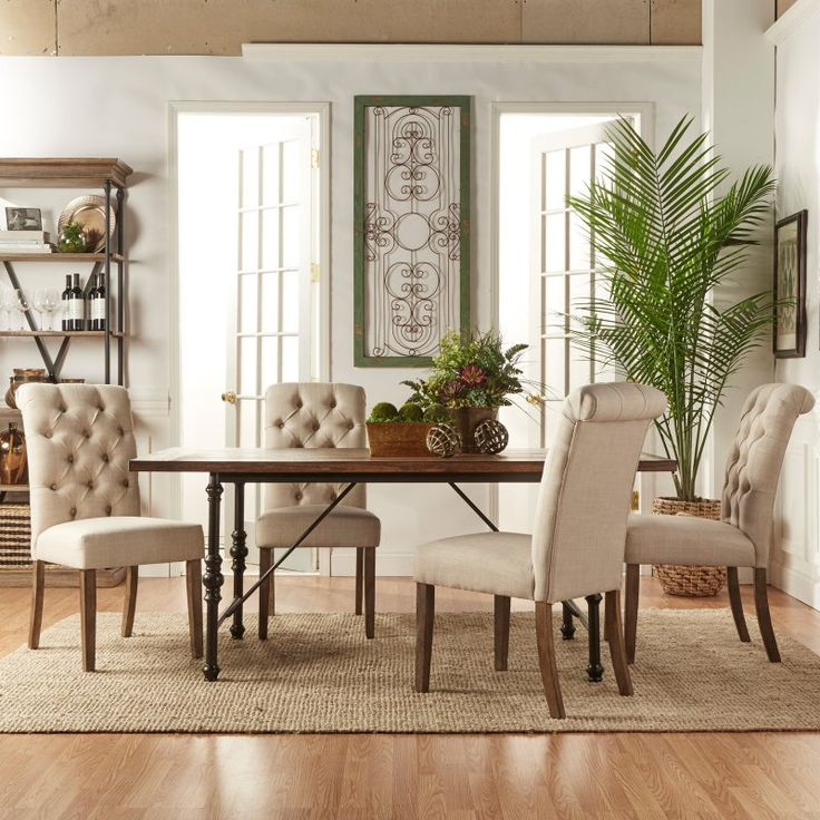 Homelegance 5 Piece Industrial Dining Set with