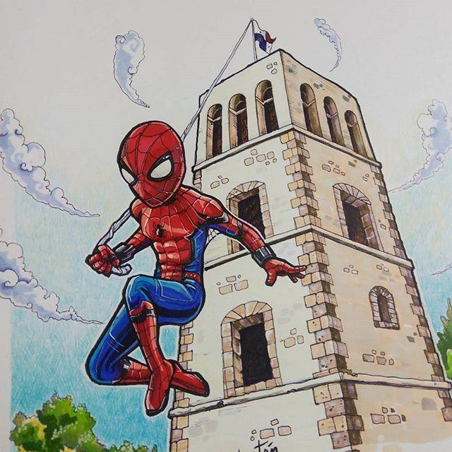 #FanArt 🎨 Spider-man en Panamá 🎨 [ pintado con marcadores y lápices PRISMACOLOR ] #arttristan.   #spidermanhomecoming #Spiderman #Spidey #Panama #panamacity #ptyesarte #instaart #instanerd #prismacolor #markers #painting #paint #art #arte #_artshow_  #illustration #comicbook #sketchbook #loveart #colors #conceptart #elpincelpanama #Veraguas #LosSantos #Chorrera #Panamalavieja .