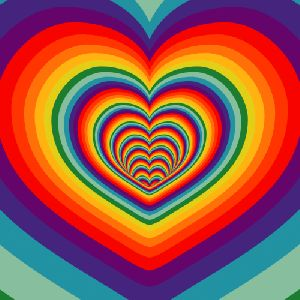 Click on for gif effect. #Heart, #gif, #Trippy art