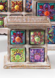 Commode 4 tiroirs en céramique Style antique Vert citron: Amazon.fr: Cuisine & Maison