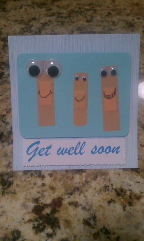 Get well soon card! The Work Trifecta <3 ..thanks @Joni Wells Wells Creel and @Brittany Horton Horton Chisholm