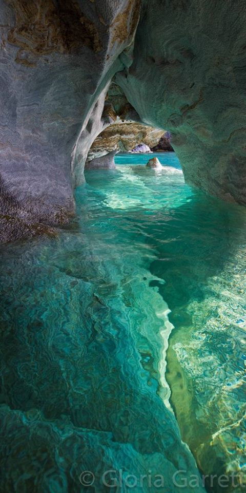 Marble Cathedral, Patagonia, Chile. I wonder if you can dive here even with the cold