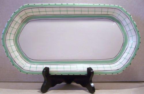 Vintage Art Deco British Anchor Cottage Green Tea Sandwich Plate | eBay