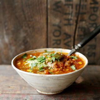 Red Lentil and Poblano Chili Soup