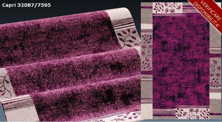 Tappeto 80x150 capri 32087-7595 design moderno polipropilene  Art. SITCAP59580150    I tappeti sono gli elementi decorativi della casa per eccellenza.  I nostri prodotti hanno un ottimo rapporto qualita'/prezzo e si prestano ad arredare con stile la vostra casa.  Misure tappeto: 80X150 cm  Materiale: polipropilene heat-set 100%  Grammatura: gr. 2400/mq. ca.