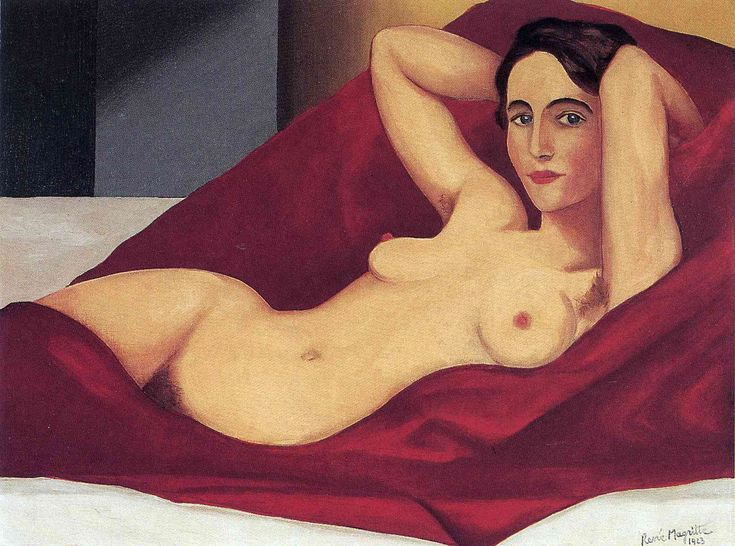 Reclining Nude (1925). Rene Magritte.