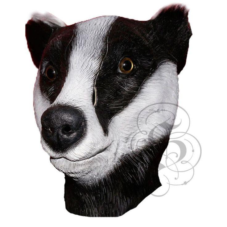 Latex Full Head Animal Popular Cosplay Badger Fancy Dress Up Carnival Mask