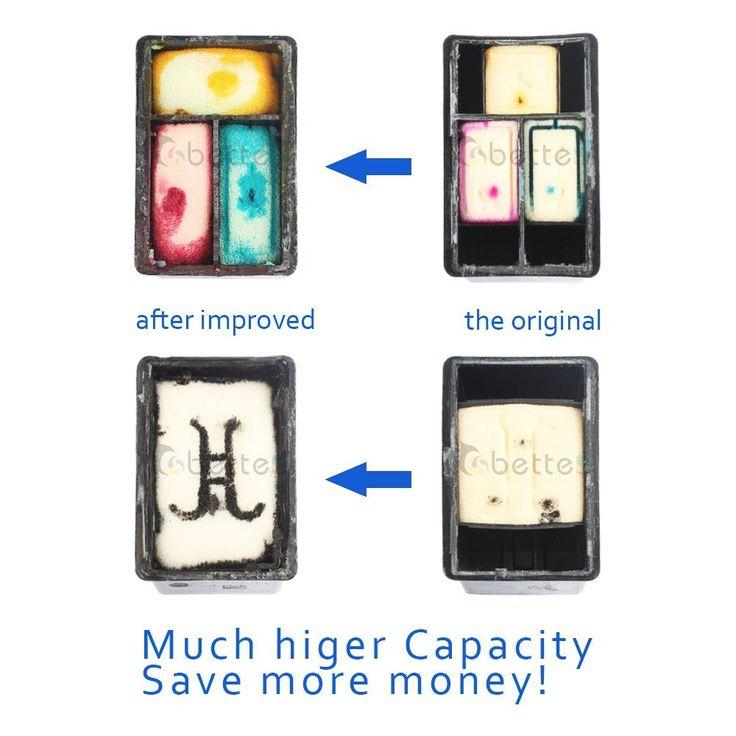 Promo Free Shipping Inkjet Printer Ink Cartridge for hp21 hp22 for HP 21XL 22XL C9351A C9352A F380. Click visit to buy