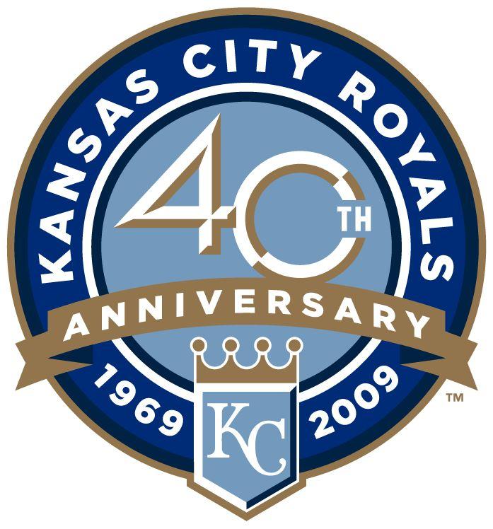 Kansas City Royals Anniversary Logo (2009) - Royals' 40th Anniversary logo