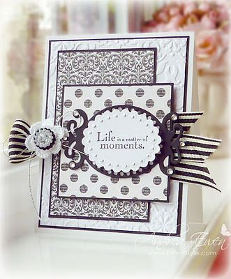 beautiful!: Cards Ideas, Cards Scrapbook, Black And White, Birthday Cards, Cards Tags Bags, Nice Quote, Cards Layout, Cards Samples, Ribbons Treatments