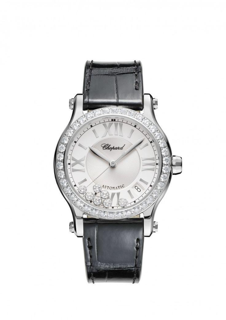 Orologio Happy Sport 36mm automatico acciaio inossidabile e diamanti.
