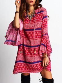 robe vintage avec franges