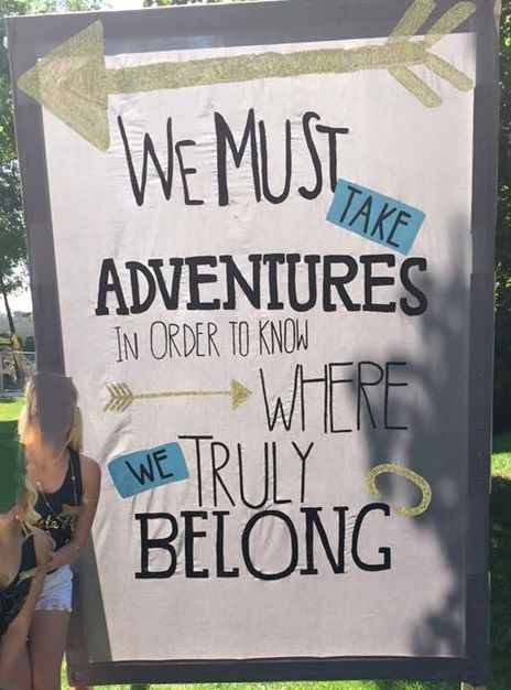 """Pi Beta Phi - """"We Must take adventures, in order to know where we truly belong!"""" banner #piphi #pibetaphi"""