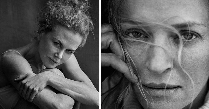 Esta serie de fotos en blanco y negro para el calendario Pirelli 2017, creado por el fotógrafo Peter Lindbergh muestra la belleza de las mujeres al natural
