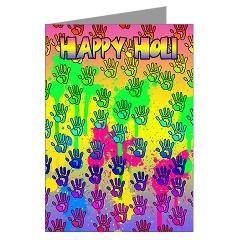 Holi Greeting Card Happy Holi Holi (Pk of 10) > Holi Greeting Cards > Moonlake Designs