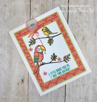 Stampin' Up! Bird Banter Belated Birthday | Stamps – n - Lingers