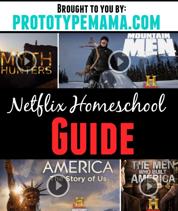 Netflix Homeschool Guide - Our Netflix Homeschool guide- packed full of history, science and math related shows to help supplement your child's curriculum.: