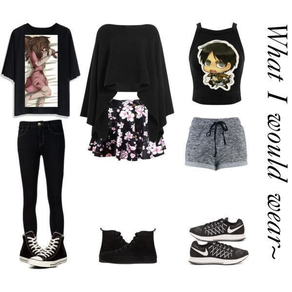 Outfits by animefan492 on Polyvore featuring polyvore, moda, style, Chicwish, Miss Selfridge, Donna Karan, Ström, Ann Demeulemeester, NIKE, Converse and Levi's